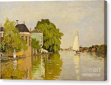 Houses On The Achterzaan, 1871  Canvas Print