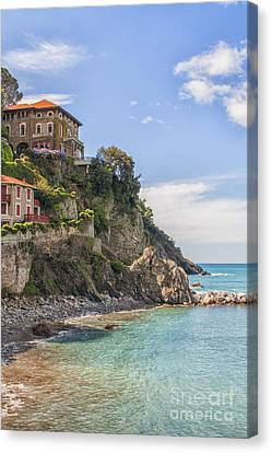 Houses On The Rocks Canvas Print by Patricia Hofmeester
