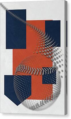 Houston Astros Art Canvas Print by Joe Hamilton