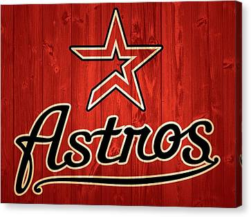 Baseball Park Canvas Print - Houston Astros Barn Door by Dan Sproul