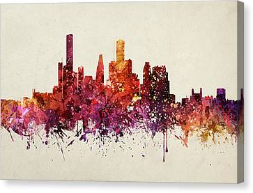 Houston Cityscape 09 Canvas Print