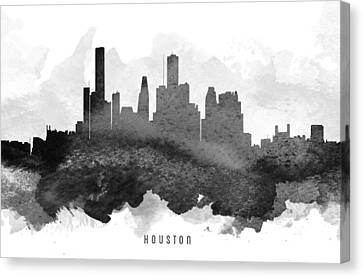Houston Cityscape 11 Canvas Print by Aged Pixel