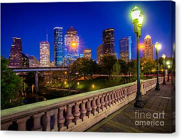 Houston Evening Stoll Canvas Print by Inge Johnsson