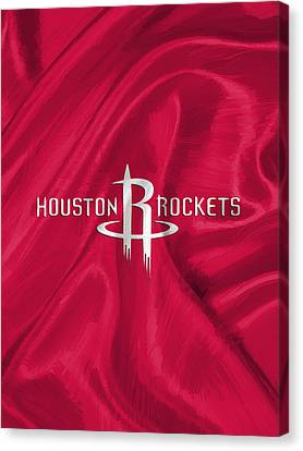 Dunk Canvas Print - Houston Rockets by Afterdarkness