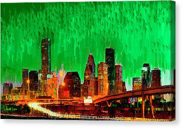 Houston Skyline 112 - Pa Canvas Print by Leonardo Digenio