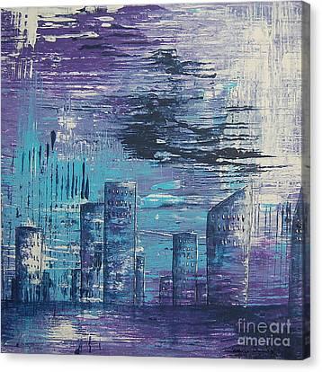 Houston Skyline 2 Canvas Print