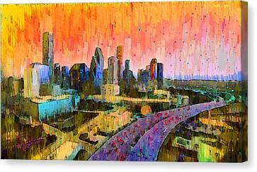 Houston Skyline 31 - Pa Canvas Print by Leonardo Digenio