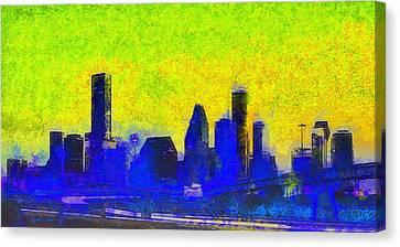 Houston Skyline 42 - Da Canvas Print by Leonardo Digenio