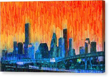 Houston Skyline 81 - Pa Canvas Print