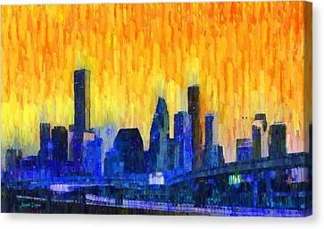 Houston Skyline 82 - Pa Canvas Print