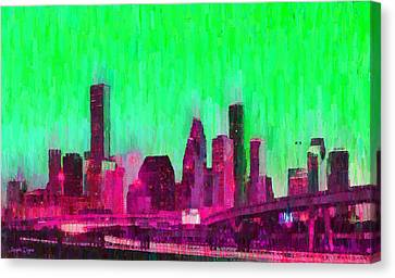 Houston Skyline 86 - Pa Canvas Print by Leonardo Digenio