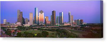 Houston Skyline, Memorial Park, Dusk Canvas Print by Panoramic Images