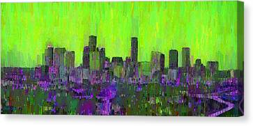 Houston Skyline Night 53 - Da Canvas Print