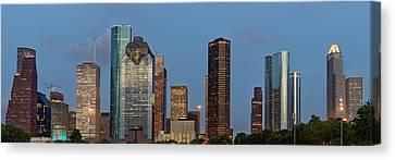 Houston Skyline Panorama Canvas Print by Jonathan Davison