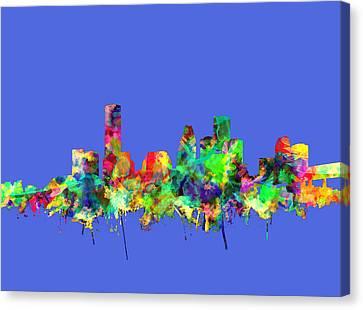 Houston Skyline Watercolor 2 Canvas Print