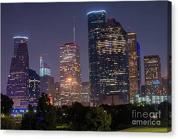 Houston Syline Canvas Print by Juli Scalzi