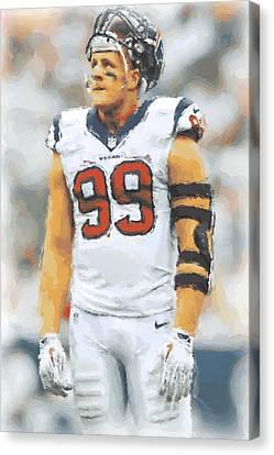 Houston Texans Jj Watt 4 Canvas Print