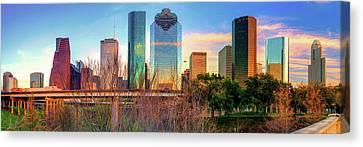 Houston Texas Downtown Skyline Panorama Canvas Print
