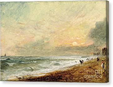 Hove Beach Canvas Print by John Constable