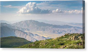 Canvas Print featuring the photograph Hovering Over Granite Mountain by Alexander Kunz