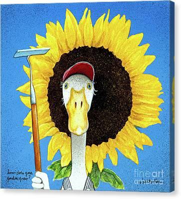 Garden Grown Canvas Print - How Does Your Garden Grow? by Will Bullas