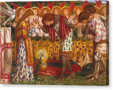 How Sir Galahad Canvas Print by Dante Gabriel Rossetti