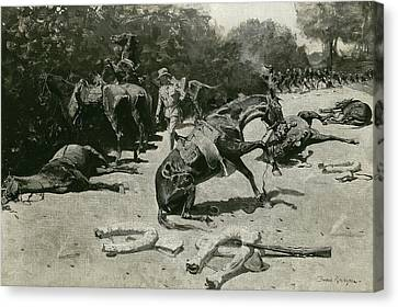 How The Horses Died For Their Country At Santiago, 1899 Canvas Print