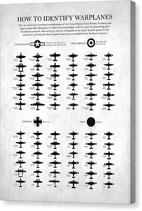 How To Identify Warplanes Canvas Print by Mark Rogan