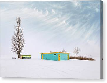 Canvas Print featuring the photograph How To Wear Bright Colors In The Winter by John Poon