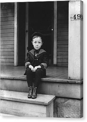 Howard Finly Sitting Down  Canvas Print
