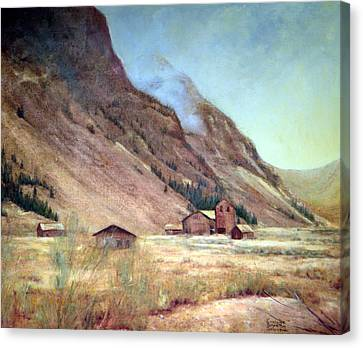 Howardsville Colorado Canvas Print by Evelyne Boynton Grierson