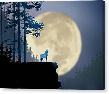 Howling Coyote Canvas Print