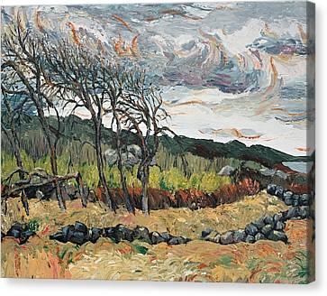 Howling Winds Sweden Canvas Print by Art Nomad Sandra  Hansen