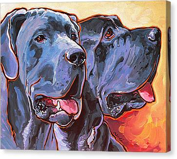 Howy And Iloy Canvas Print by Nadi Spencer