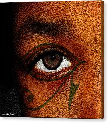 Hru's Eye Canvas Print by Iowan Stone-Flowers