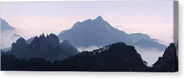 Huangshan Mountain Scene Canvas Print by PuiYuen Ng