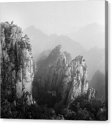 Huangshan Peaks Canvas Print by Vincent Boreux Photography