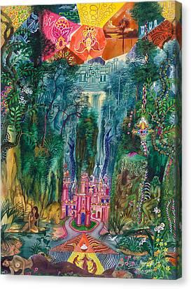 Ayahuasca Visions Canvas Print - Huarmi Taquina  by Pablo Amaringo