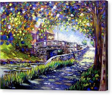 Huband Bridge Dublin City Canvas Print by John  Nolan
