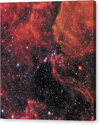 Canvas Print featuring the photograph Hubble Captures Wide View Of Supernova 1987a by Nasa