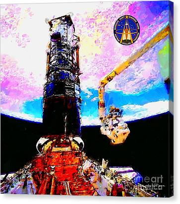 Hubble Space Telescope Servicing Mission  Canvas Print by Art Gallery
