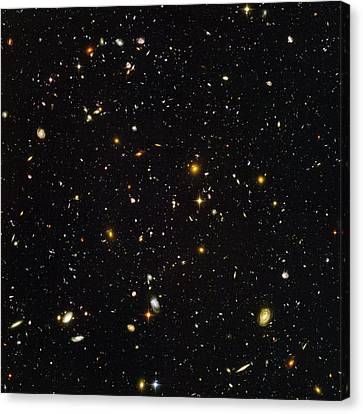 Astronomy Canvas Print - Hubble Ultra Deep Field Galaxies by Nasaesastscis.beckwith, Hudf Team