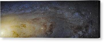 Canvas Print featuring the photograph Hubble's High-definition Panoramic View Of The Andromeda Galaxy by Adam Romanowicz