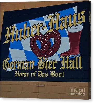Huber Haus Mural, Omaha Canvas Print by Poet's Eye
