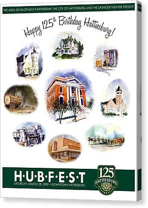 Hubfest Poster Canvas Print