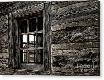 Canvas Print featuring the photograph Hudson Bay Fort Window by Brad Allen Fine Art