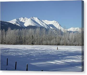 Hudson Bay Mtn Winter View Canvas Print