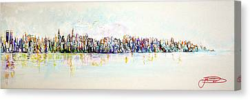 Hudson River View Canvas Print