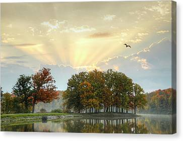 Canvas Print featuring the photograph Hudson Springs Morning by Ann Bridges