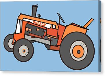 Hudson's Tractor Canvas Print by Denny Casto